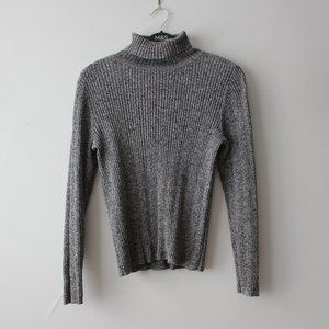 Liz Claiborne Ribbed Gray Turtleneck